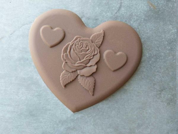 Chocolate Heart Rose