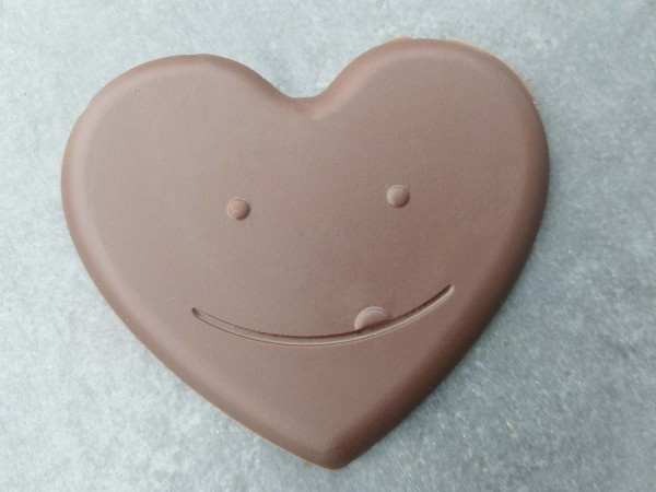 Laughing chocolate heart