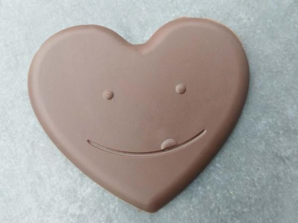 Lachendes Schokoladen Herz
