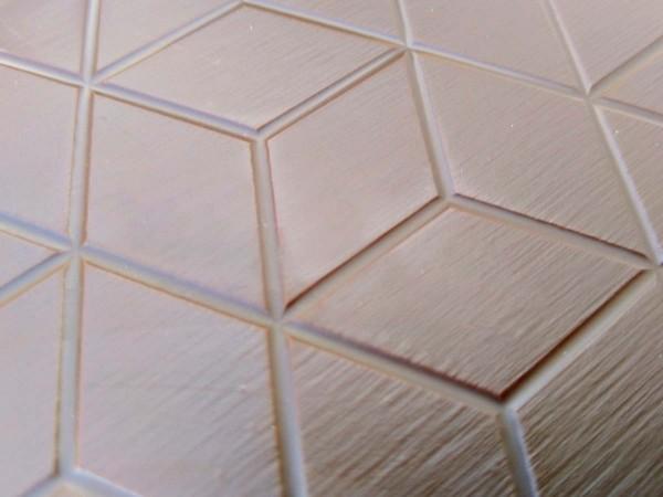 Broken chocolate in cube design