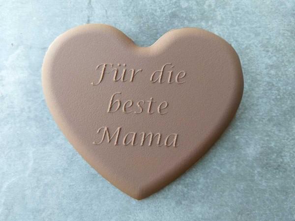 """Schokoladen Herz """"Für die beste Mama"""""""