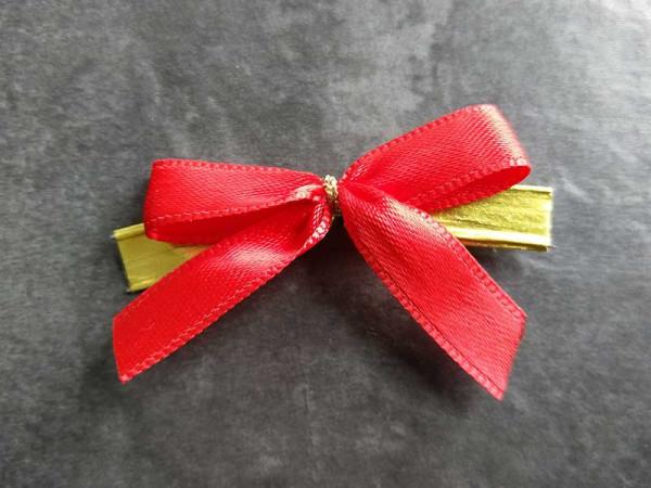 Verschluss-Clip mit Schleife, rot