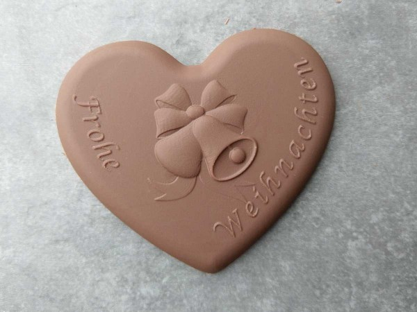 Schokoladen Herz Frohe Weihnachten