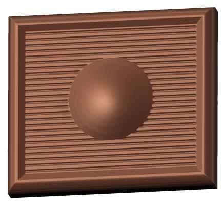 Schokoladenform Minitafel Mittelpunkt