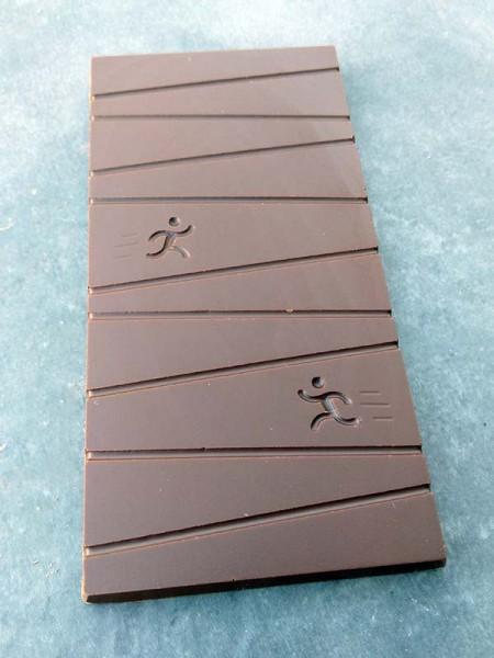 Schokoladentafel mit Läufer-Motiv