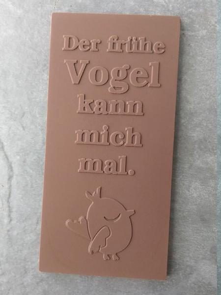 Schokoladentafel mit Spruch