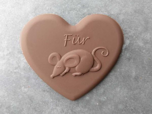 """Schokoladen Herz """"Für Mausi"""""""