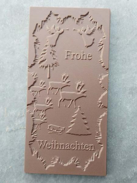 Schokoladentafel Frohe Weihnachten