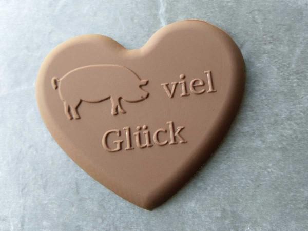 Schokoladenform Herz Viel Glück