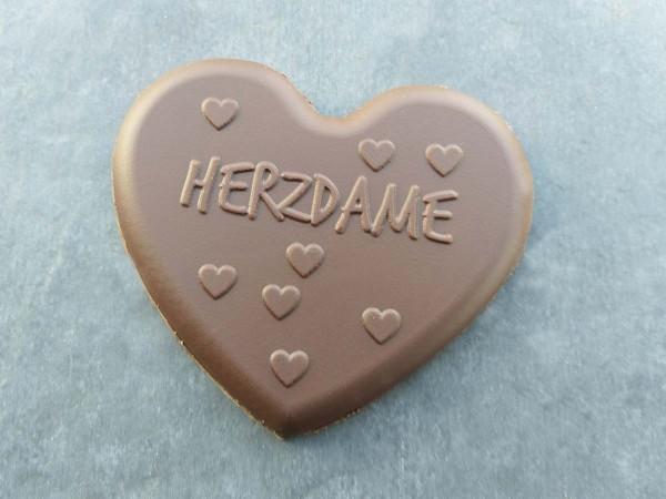 Schokoladen Herz mit der Aufschrift Herzdame