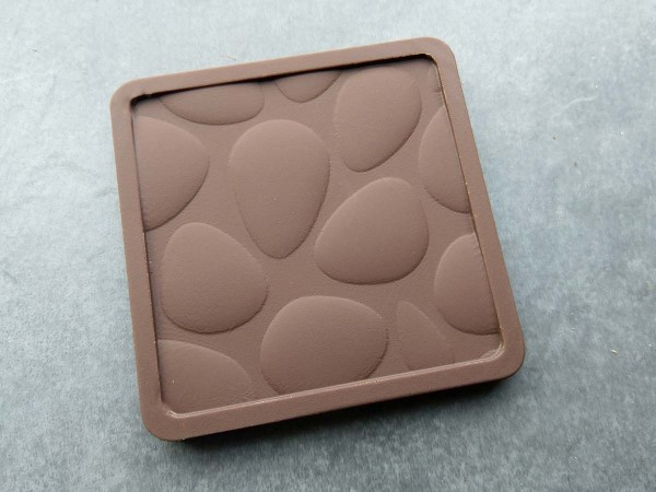 Schokolade Minitafel mit Kieselmuster