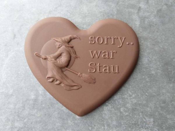 """Schokoladen Herz """"Sorry war Stau"""""""