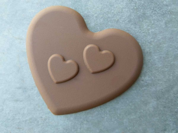 Chocolate two hearts