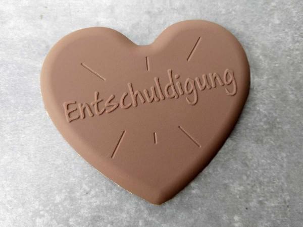 Schokoladen Herz Entschuldigung
