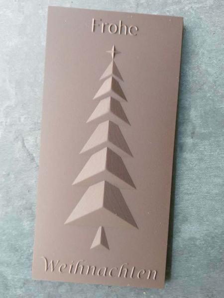 Schokoladentafel Frohe Weihnachten Tannenbaum