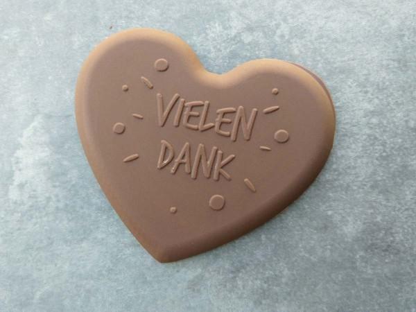 Schokoladen Herz Vielen Dank