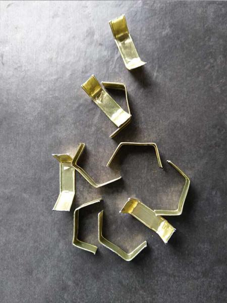 Verschluß-Clips 8 x 40 mm, gold, 10 St.