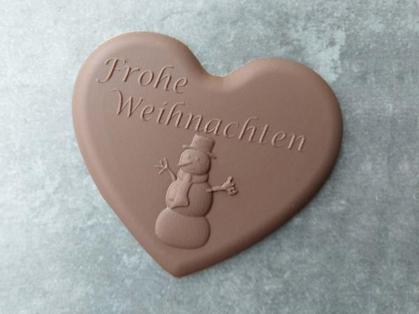 Schokoladen Herz Schneemann