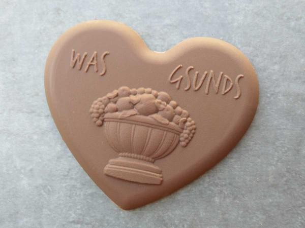 "Schokoladen Herz ""Was gsunds"""